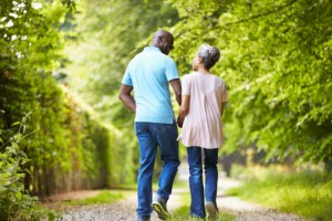 older-AA-couple-walking